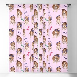 Beagle,puppies, cute dogs pattern  Blackout Curtain
