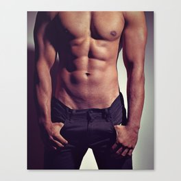 sexy male man's body Canvas Print