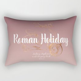 Roman holiday - Audrey Hepburn and Gregory Peck tribute to Rectangular Pillow