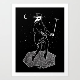 Plague Doctor Art Print