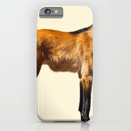 Maned Wolf Illustration iPhone Case