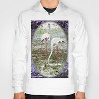 flamingos Hoodies featuring Flamingos by CrismanArt