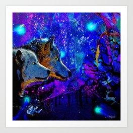 WOLF DREAMS AND VISIONS Art Print