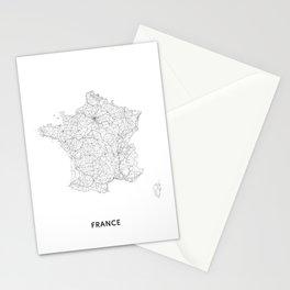 France Map, Art Print By LandSartprints Stationery Cards