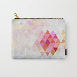 Abstract pink pastell triangle pattern- Watercolor illustration Carry-All Pouch