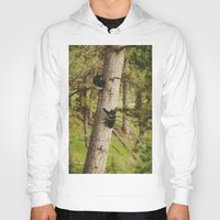 climbing Hoodies featuring Climbing Cubs by Kevin Russ