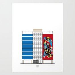 Edificio Viulma Art Print