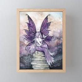 Letting Go Fairy Fantasy Art Framed Mini Art Print