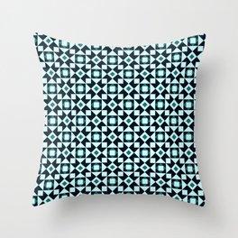 Azulejo Brown Throw Pillow