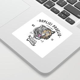 DUPLICI PROELIO Tiger by leo Tezcucano Sticker