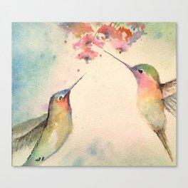 hummingbirds #4 Canvas Print