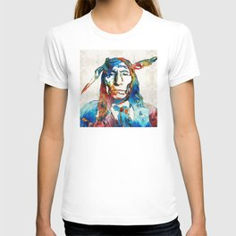 Native American Art - Warrior - By Sharon Cummings T-shirt