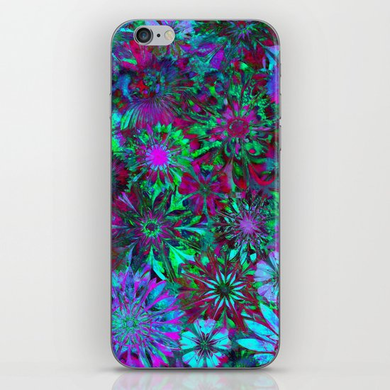Rivalry of Flowers - green & lilac iPhone & iPod Skin