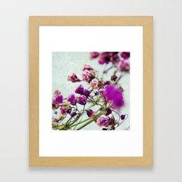 pink florets detail Framed Art Print