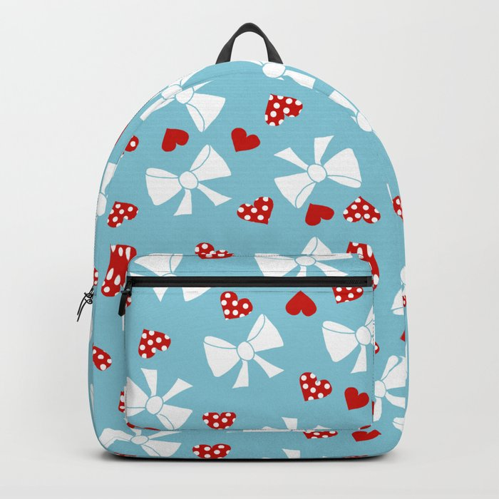 Lace gift wrap blue Backpack