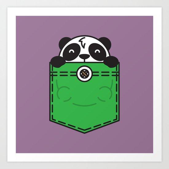 Pocket Panda Art Print