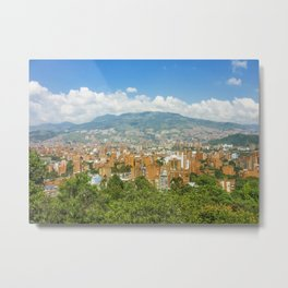 Aerial View of Medellin from Nutibara Hill Metal Print