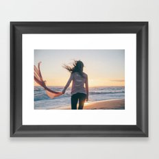 For we're like creatures of the wind, and wild is the wind  Framed Art Print