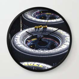 Tires ready to race  Wall Clock