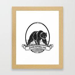 Glacier National Park Emblem Framed Art Print