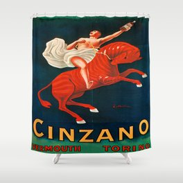 Vintage poster - Cinzano Vermouth Torino Shower Curtain