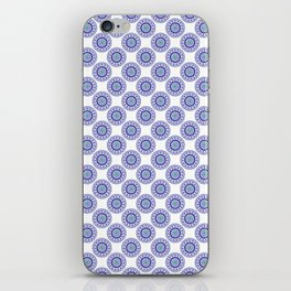 Blue Wire Lace iPhone Skin
