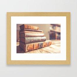 Bookish - Library Bookworm Books Framed Art Print