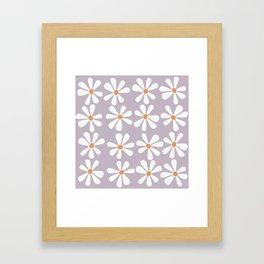 Kawaii flowers Framed Art Print