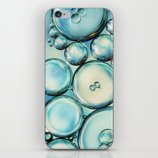 Sky Blue Bubble Abstract iPhone & iPod Skin