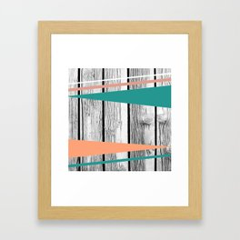 Colored arrows on wood Framed Art Print