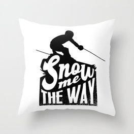 Ski Winter Snow Throw Pillow