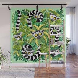 Lemurs on Madagascar Rainforest Wall Mural