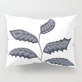 Abstract leaves - denim photocollage Pillow Sham