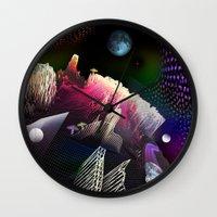 hologram Wall Clocks featuring Moonlight Drive by Antonio Jader