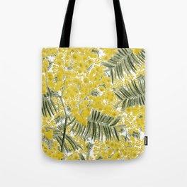 Yellow Mimosa Tote Bag