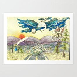 Where Are You Going? Art Print