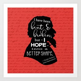Into a Better Shape - Dickens (Red) Art Print