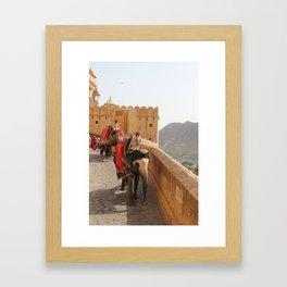 Elephant Ride Framed Art Print
