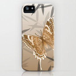 Beautiful Copper Butterfly Design iPhone Case