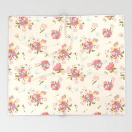 Chinoiserie Garden Throw Blanket