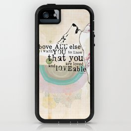 Above All You are Loved iPhone Case