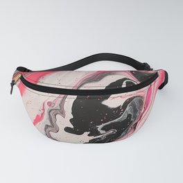 Marbles, hot pink abstract art Fanny Pack