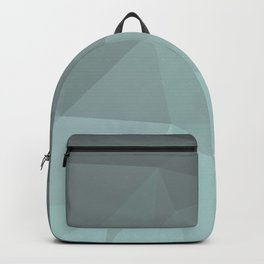 Light Steel Blue Polygon Backpack