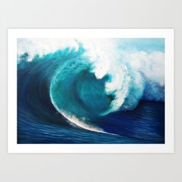 The invisible surfer Art Print