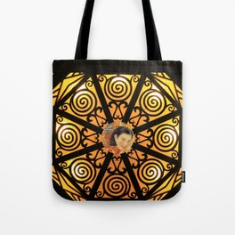 Woman in China - Beijing 7033 - Gold and black decor Tote Bag