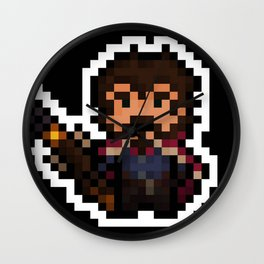 Graves, The Pixel Gunslinger - black version Wall Clock