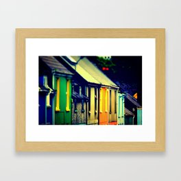Dingle Ireland Colorful Row Houses Irish Photography Framed Art Print