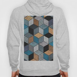 Colorful Concrete Cubes 2 - Blue, Grey, Brown Hoody