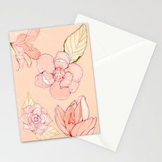 Summer flowers warm Stationery Cards