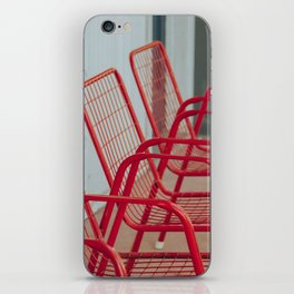 Red Chairs iPhone Skin